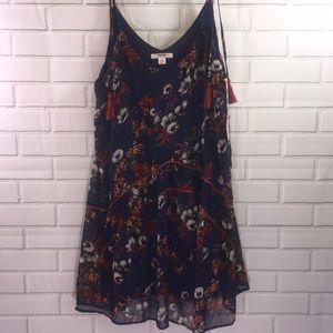 NET Mossimo Navy Blue Chiffon Dress- XXL
